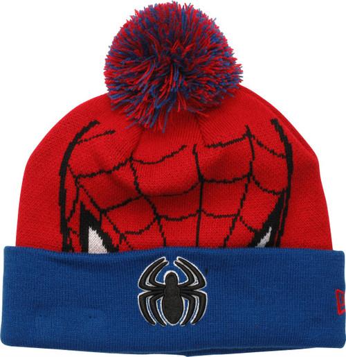 4bd26e98d Spiderman Mask Cuff Pom Beanie