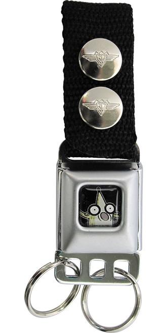 Regular Show Rigby Black Keychain