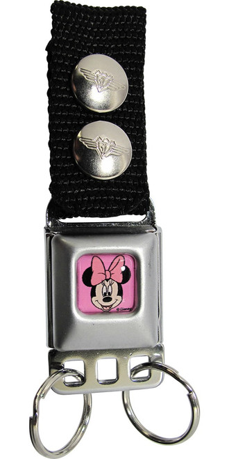 Minnie Mouse Face Smile Keychain