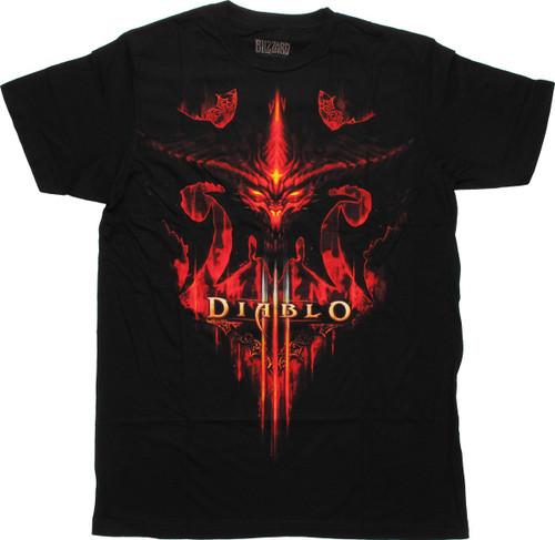 Diablo 3 Burning Face T-Shirt