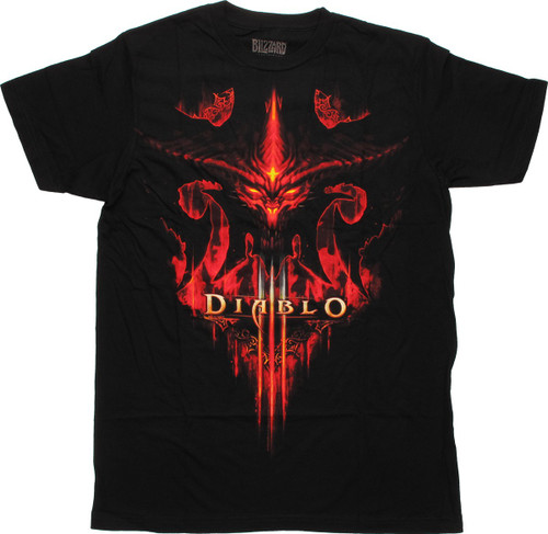 Diablo 3 Burning Face T-Shirt