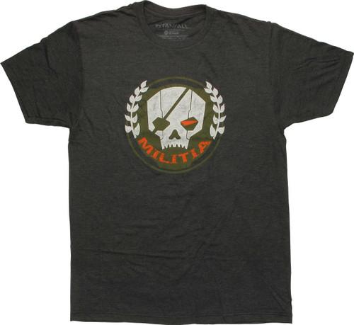 Titanfall Militia Logo T-Shirt