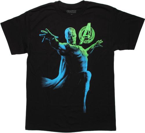 Avengers Vision Glowbot T Shirt