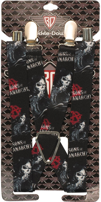 Sons of Anarchy Reaper Suspenders