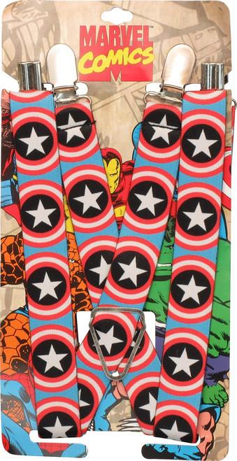Captain America Shield Logo Suspenders