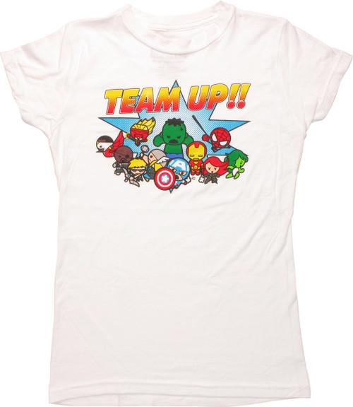 Avengers Toy Kawaii Team Up Baby Tee