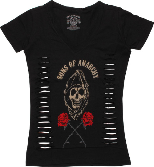 Sons of Anarchy Roses V Neck Baby Tee
