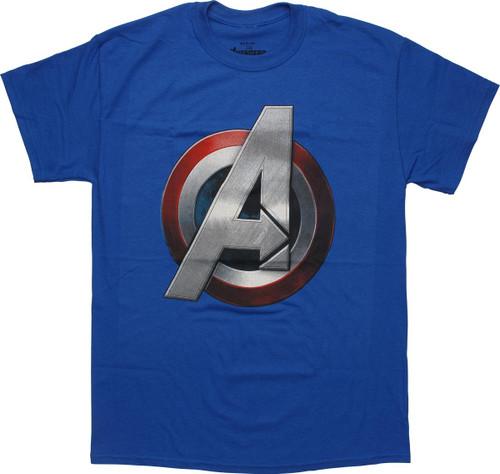 Avengers Captain America Assembles Logo T-Shirt