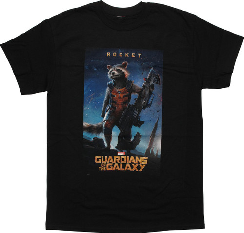 Guardians of the Galaxy Rocket Poster T-Shirt