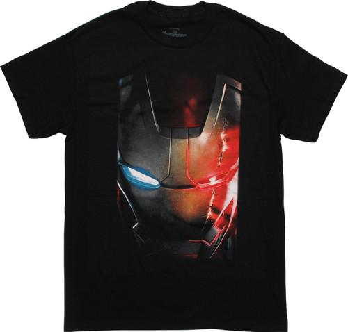 Iron Man Helmet Up Close T-Shirt