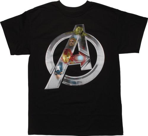 Avengers Ultron Heroes Assemble Logo T-Shirt