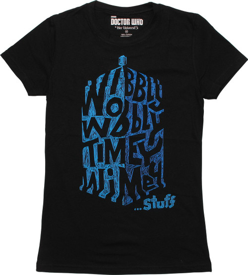Doctor Who Wibbly Wobbly TARDIS Sketch Baby Tee