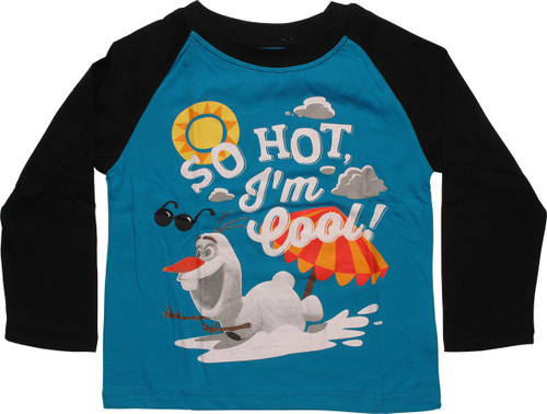 Frozen Olaf So Hot Long Sleeve Toddler T-Shirt