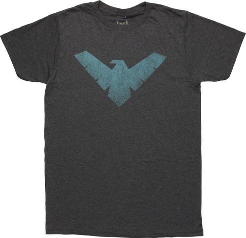 Nightwing Vintage Logo T-Shirt Sheer