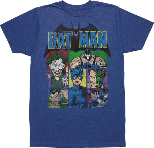Batman Villain Panels T-Shirt Sheer