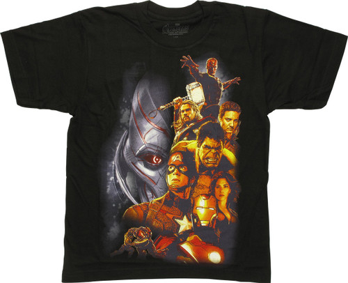 Avengers Ultron Side Group Youth T-Shirt