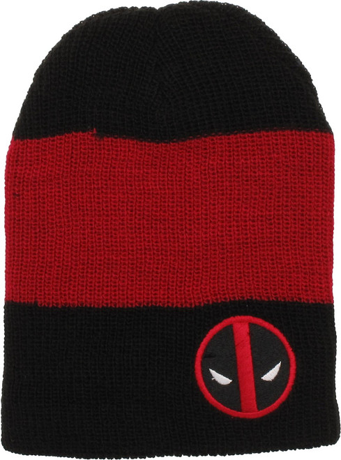5a787a529ab Deadpool Logo Striped Slouch Beanie beanie-deadpool-striped-slouch