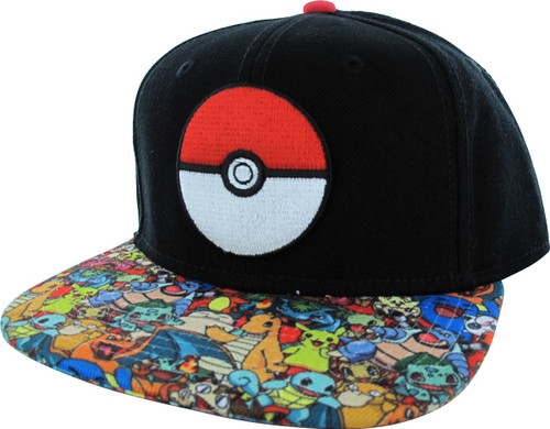 Pokemon Poke Ball Group Visor Hat 88423d9bdad8