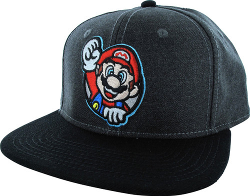 Mario Fist Up Snapback Hat
