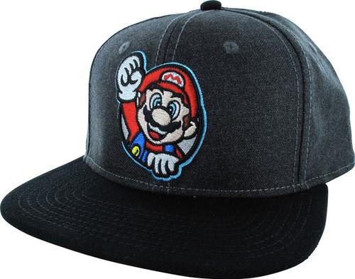3c729e13442 Mario Fist Up Snapback Hat