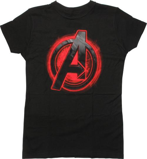 Avengers Black Widow Assemble Logo Juniors T-Shirt