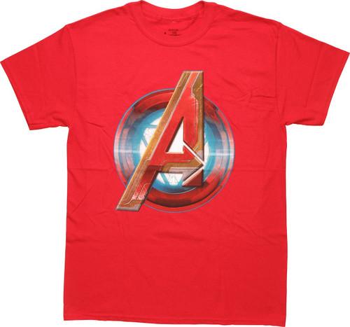 Avengers Iron Man Assemble Logo T-Shirt