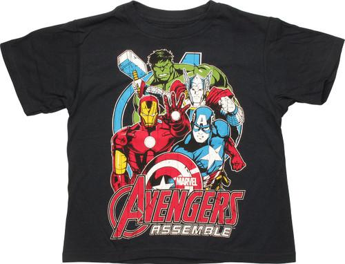 Avengers Assemble Group Juvenile T-Shirt
