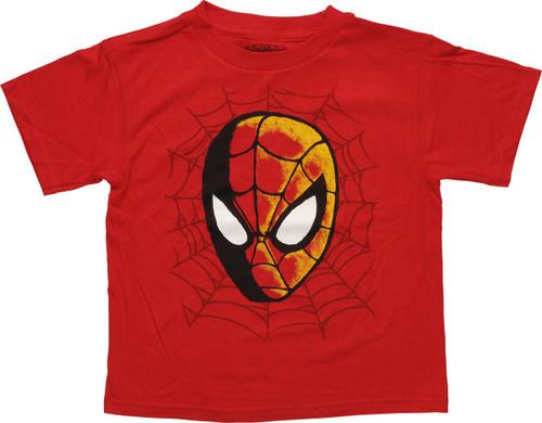 Spiderman Painted Head Juvenile T-Shirt