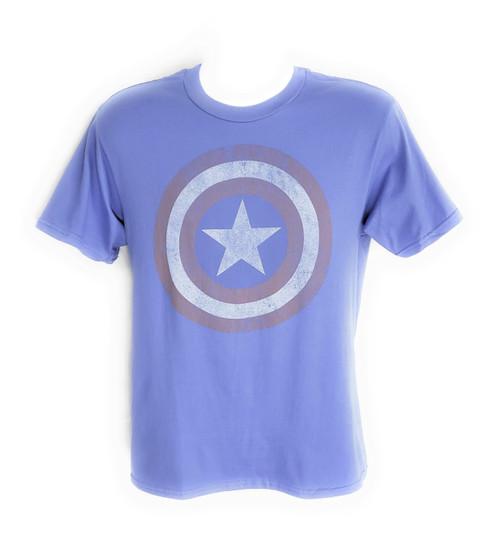 Captain America Distressed Shield T Shirt Sheer