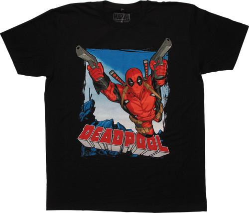 Deadpool 2 Guns Leap T Shirt Sheer