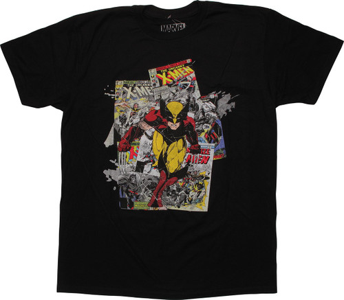 X Men Wolverine Covers Run T Shirt Sheer