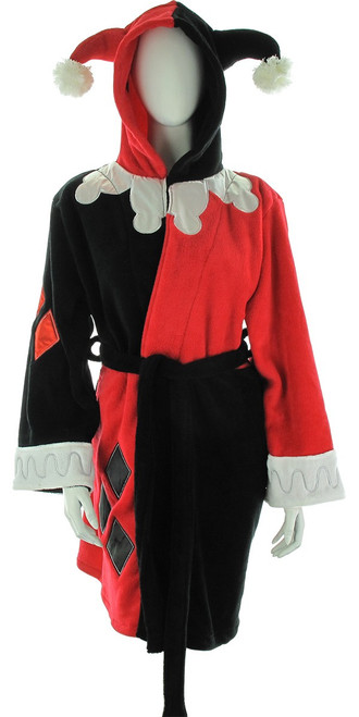 Harley Quinn Costume Fleece Junior Robe
