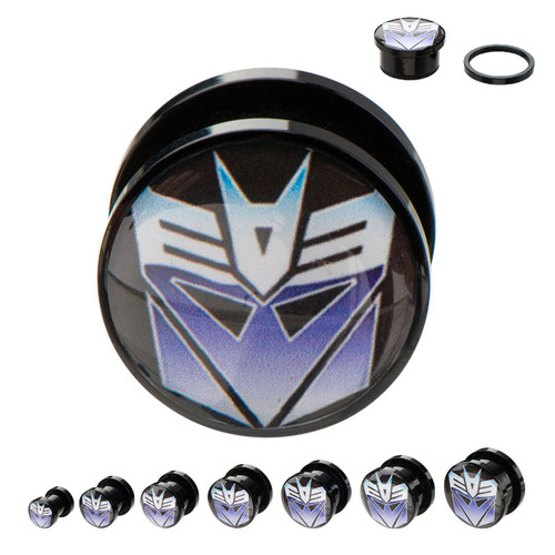 Transformers Decepticon Acrylic Plugs