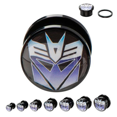 Transformers Decepticon Acrylic Plugs