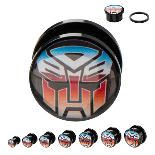 Transformers Autobot Acrylic Plugs