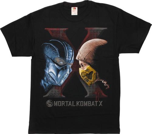Mortal Kombat X Sub-Zero Scorpion Face Off T-Shirt