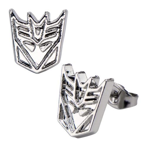 Transformers Decepticon Steel Stud Earrings