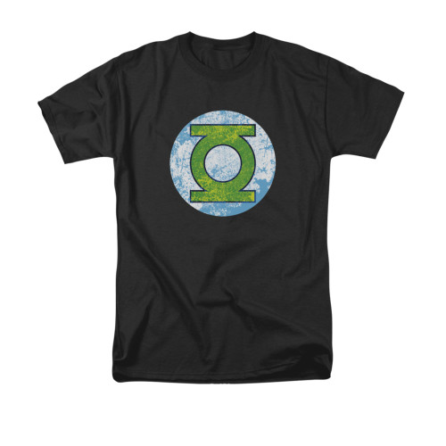 Green Lantern Neon Distress Logo T Shirt