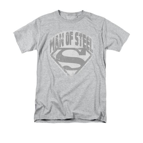 Superman Man of Steel Shield Vintage T Shirt