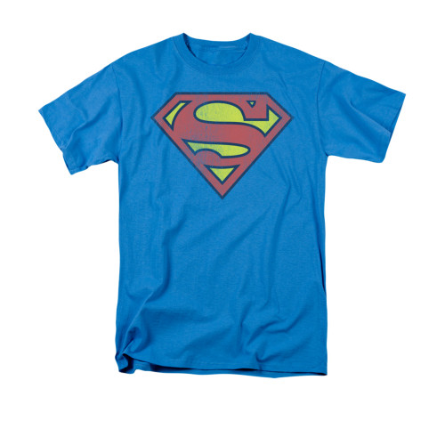Superman Retro Logo Distressed T Shirt