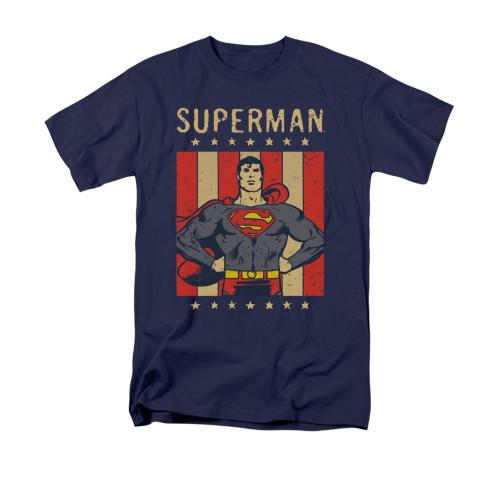Superman Retro Liberty T Shirt