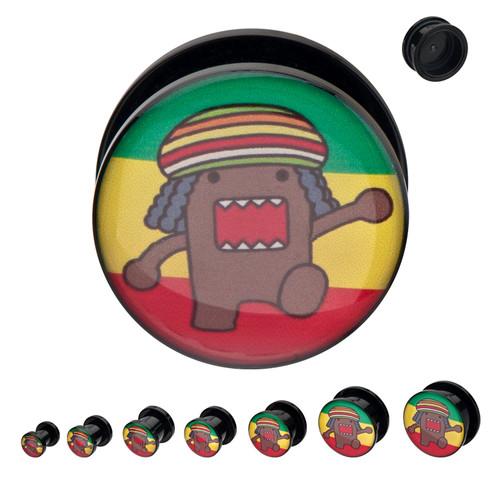 Domo Kun Rasta Acrylic Plugs