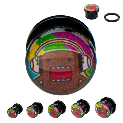 Domo Kun Headphones Acrylic Plugs