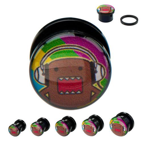 Domo Kun Headphones Acrylic Plugs