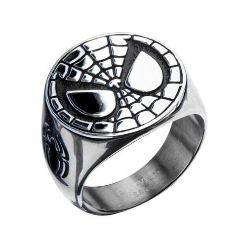 Spiderman Mask Steel Ring