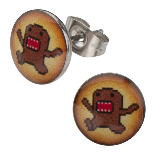 Domo Kun Arms Up Stud Earrings