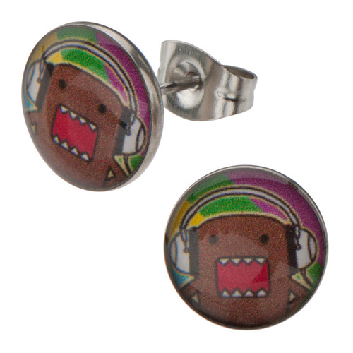 Domo Kun Headphones Stud Earrings