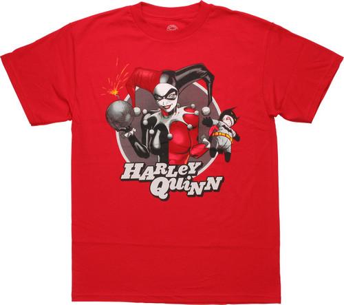 Harley Quinn Bat Doll T-Shirt
