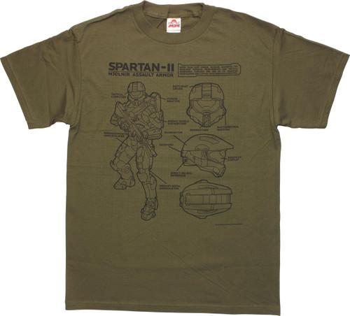 Halo Assault Armor Schematic T-Shirt