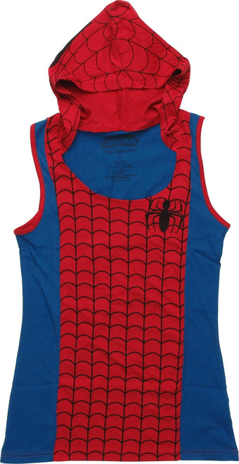 Spiderman Hooded Juniors Tank
